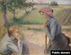 Каміль Пісаро, «Дзьве маладыя сялянкі» (1892)