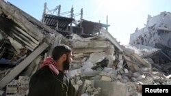 Ruševine u Damasku, februar 2013.