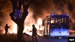Взрыв в центре Анкары. Турция, 17 февраля 2016 года.