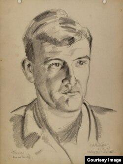 Эдвард Миллиган. Портрет художника Эдриана Хита