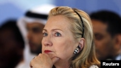 Turkey -- U.S. Secretary of State Hillary Clinton attends the Libya contact group meeting in Istanbul, 15Jul2011