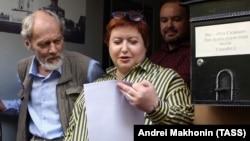 """Ольга Романова, """"Русь сидящая"""" құқық қорғау ұйымының басшысы. Мәскеу, 8 маусым 2017 жыл."""