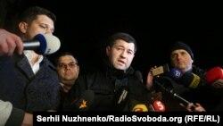 Роман Насіров після виходу з СІЗО в Києві, 16 березня 2017 року