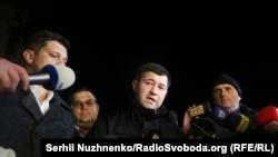 Nasirov la ieșirea din centrul de detenție preventivă de la Kiev