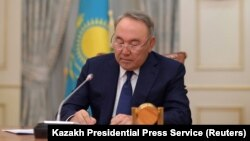 Kazakh President Nursultan Nazarbaev addressed the nation in a televised address on March 19.