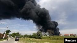 Пожежа біля Василькова, 9 червня 2015 року