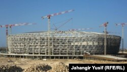 Строительство Олимпийского стадиона в Баку