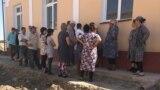 Жители села «Байткурган», недовольные сносом своих домов. Кибрайский район Ташкентской области, 12 октября 2018 года.