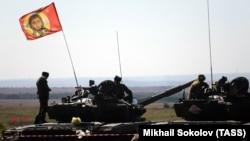 """Соревнования """"Танковый биатлон"""" между военнослужащими"""