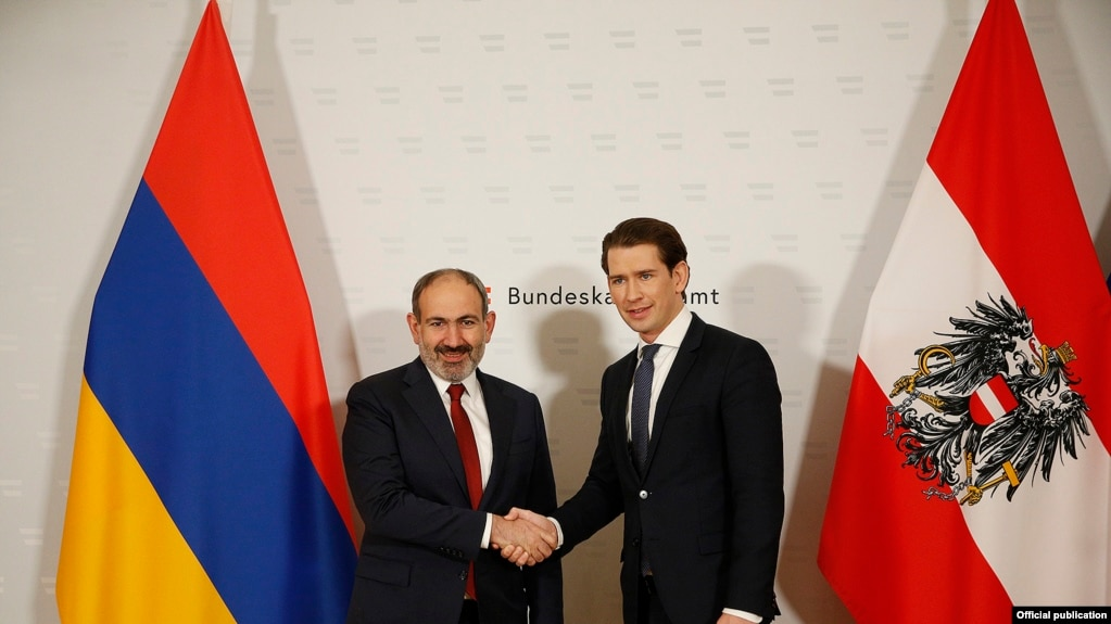 Пашинян и Курц обсудили перспективы развития армяно-австрийских отношений