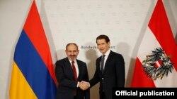 Премьер-министр Армении Никол Пашинян и канцлер Австрии Себастьян Курц, Вена, 29 марта 2019 г.