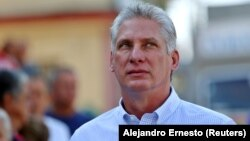 Cuban President Miguel Diaz-Canel (file photo)