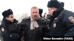 Задержание Юрия Горского во время акции за право проведения митингов. Декабрь 2016 года