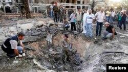 Ливан, Триполи: на месте одного из взрывов 23 августа 2013 года
