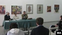 """Прес-конференција по повод изложбата на дела од Меѓународната ликовна колонија """"Вевчански видувања"""""""