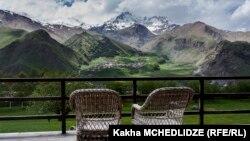 Вид на гору Казбек