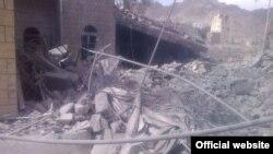 تصویری از مرکز امدادی که روز دوشنبه هدف قرار گرفت