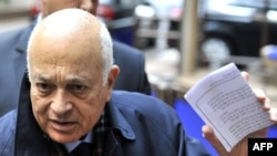 Шефот на Арапската лига Набил ал Араби