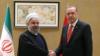 Kazakhstan-Iranian president Hassan Rouhani meets Erdogan, Turkey's president.