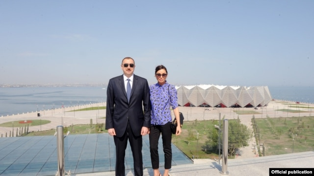 Azerbaijan. Baku. President Ilham Aliyev attended the opening of the Baku Crystal Hall, the venue of the Eurovision-2012 Song Contest