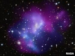 Фотография столкновения галактик, сделанная в обсерватории Кека