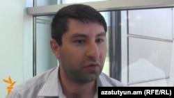 Armenia - Tigran Sargsian, a teacher controversially fired from a village school, speaks to RFE/RL, Yerevan, 9Jun2014.