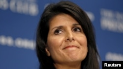 U.S. President-elect Donald Trump's choice as ambassador to the UN, Nikki Haley (file photo)