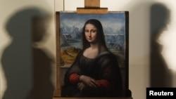 """Kopje e pikturës së Leonardo Da Vinc-t """"Mona Lisa"""", e ekspozuar në Muzeun El Prado në Madrid"""