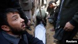 مراسم بخاکسپاری یکی از قربانیان رویداد اخیر کابل