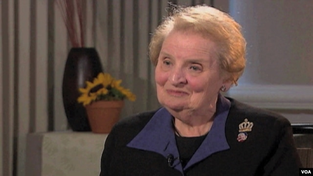Former U.S. Secretary of State Madeleine Albright (file photo)
