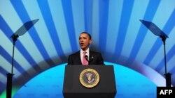 از سخنرانیهای رئیسجمهوری اوباما در یک کنفرانس ایپک.