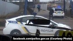 Полицейская машина в Киеве. 2 марта 2017 года.