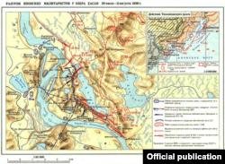 Советская военно-историческая карта. Бои у озера Хасан по версии Минобороны СССР