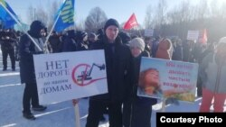 Одна из акций против варианта маршрута М12 во Владимирской области