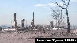 Усть-Ималка после пожара, апрель, 2019