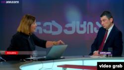 Георгий Гахария в студии «ТВ Пирвели», 11 июля 2019 г.