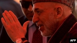 Owganystanyň prezidenti Hamid Karzaý. 16-njy maý, 2013 ý.