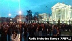 Протест против двојазичност во Скопје. 08.03.2017
