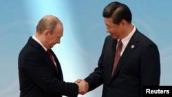 Уладзімір Пуцін і Сі Цьзіньпін