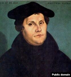 Мартин Лютер. Портрет работы Лукаса Кранаха-старшего