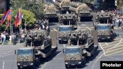 Военный парад в Ереване, посвященный 25-летию независимости Армении