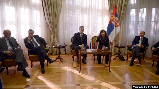 Vladimir Drobnjak i Suzana Grubješić tokom susreta u Beogradu