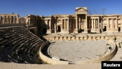 The second-century Roman amphitheater in Palmyra (file photo)