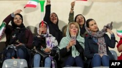 Women are a rare sight in Iran's soccer stadiums. (file photo)