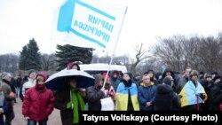 Митинг на Марсовом поле в Петербурге