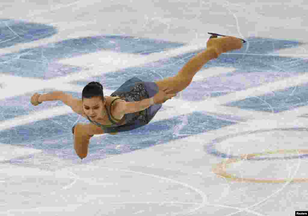 Russia's Adelina Sotnikova competes during the figure skating free program on her way to winning gold. (Reuters/David Gray)