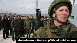 Министр обороны России Сергей Шойгу на базе Черноморского флота, Севастополь, 22 марта 2016 года