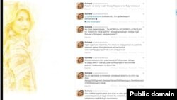 اسکرین شاتی از صفحه کاربری گلنارا کریموا
