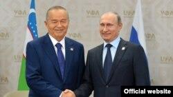 Өзбекстан президенті Ислам Каримов пен Ресей президенті Владимир Путин.