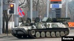 Отриманий від Росії зенітно-ракетний комплекс «Стріла-10» у силах сепаратистів у Донецьку, архівне фото